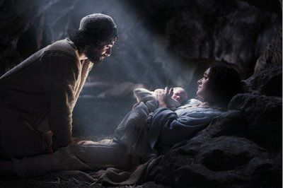 Christ birth scene