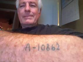 lili meir auschwitz numberon the arm of mr. davis