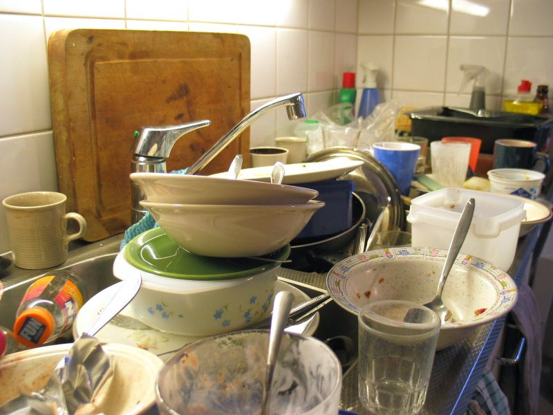 dirty dishes and depression