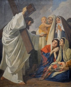 Jesus consoles the women