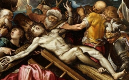 Jesus nailed to the cross Fenzoni artist