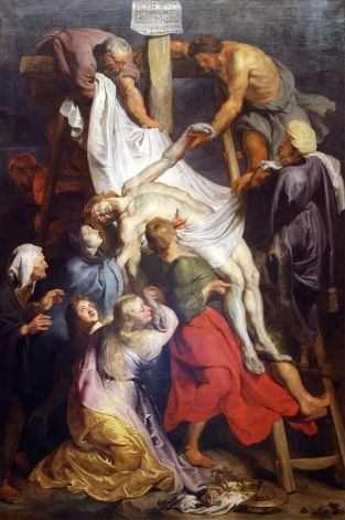 Jesus taken down from cross Rubens artist