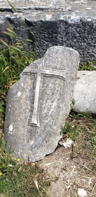 cross carved in stone