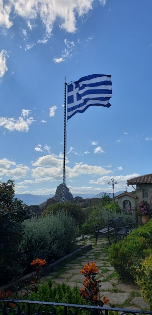 Greek flag at nunnery