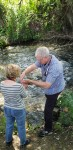 Sylvia remembering her baptism withBill