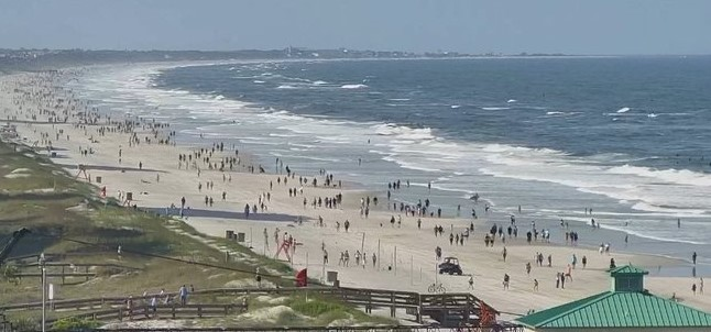 Reopening of Jacksonville FL beach during coronavirusclup)