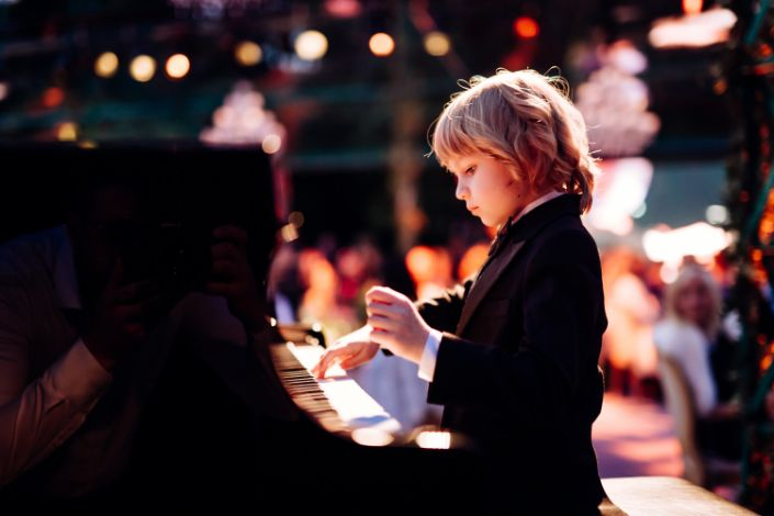 Child pianish Elisey Mysin from Russia