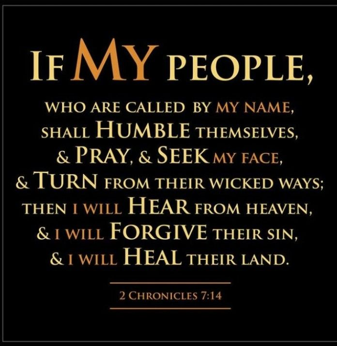 If my people will humble themselves