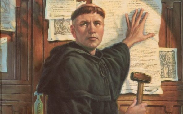 Martin Luther posts the 99 thesis