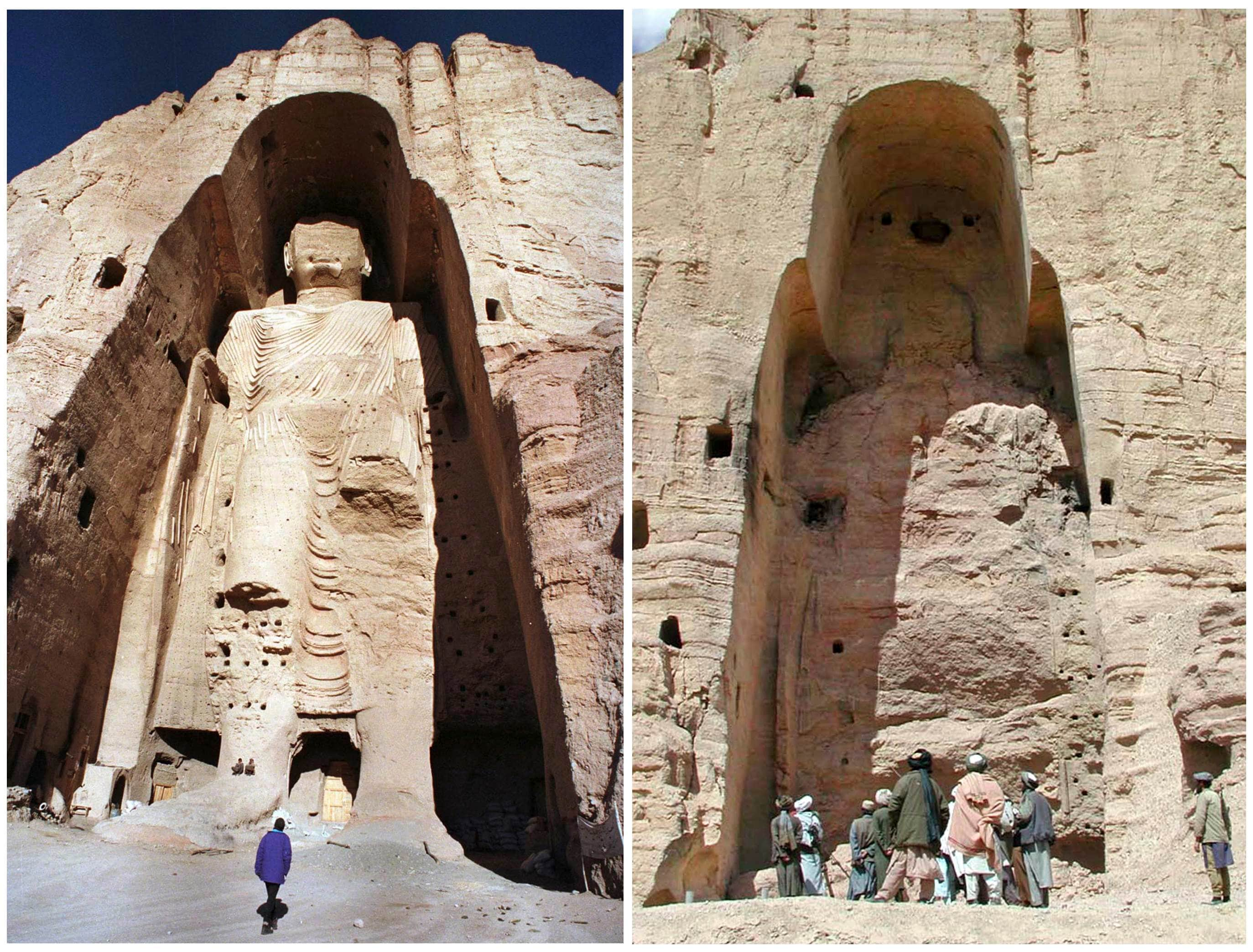 the destruction of statue of Buddah in Afghanistan
